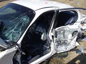 Car Totaled in Accident