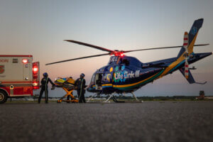 Motorcycle Accident Helicopter Ride MN Lawyers